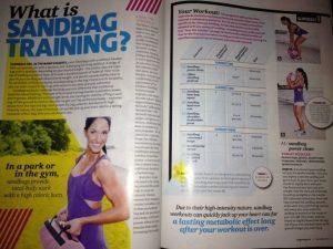 Sandbag Training featured in women's fitness magazine