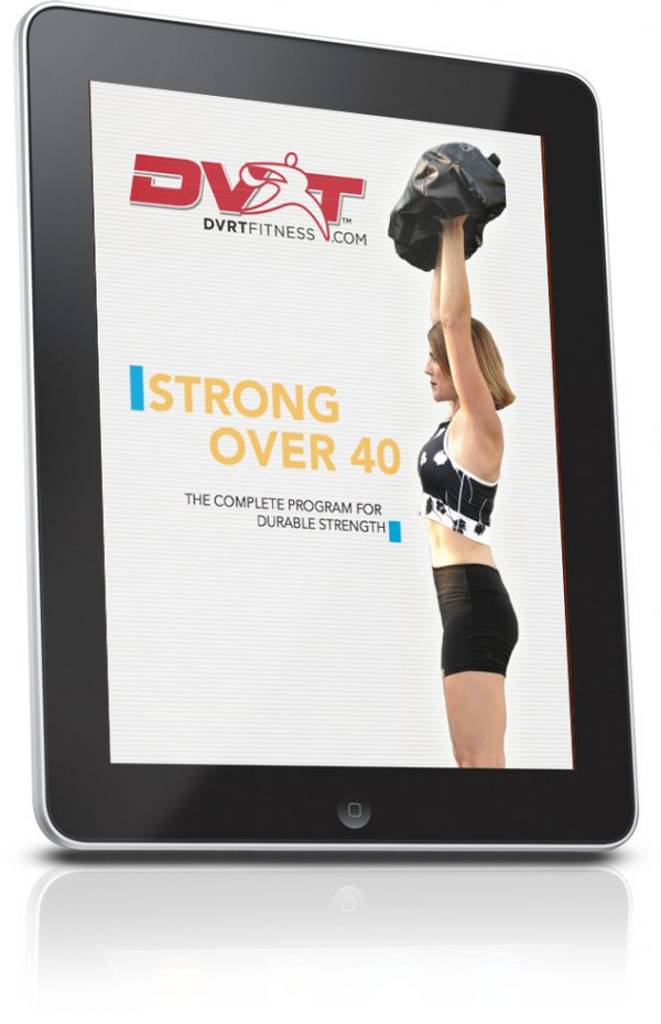 ipadverticalright 634x982 4 600x929 - DVRT Ultimate Sandbag Fitness STRONG Over 40- Downloadable