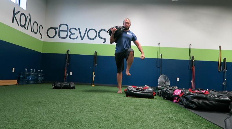 ultimate sandbag training side planks