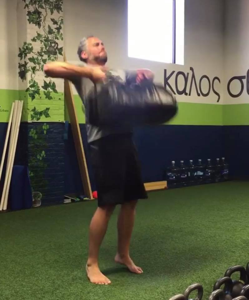 sandbag cleans