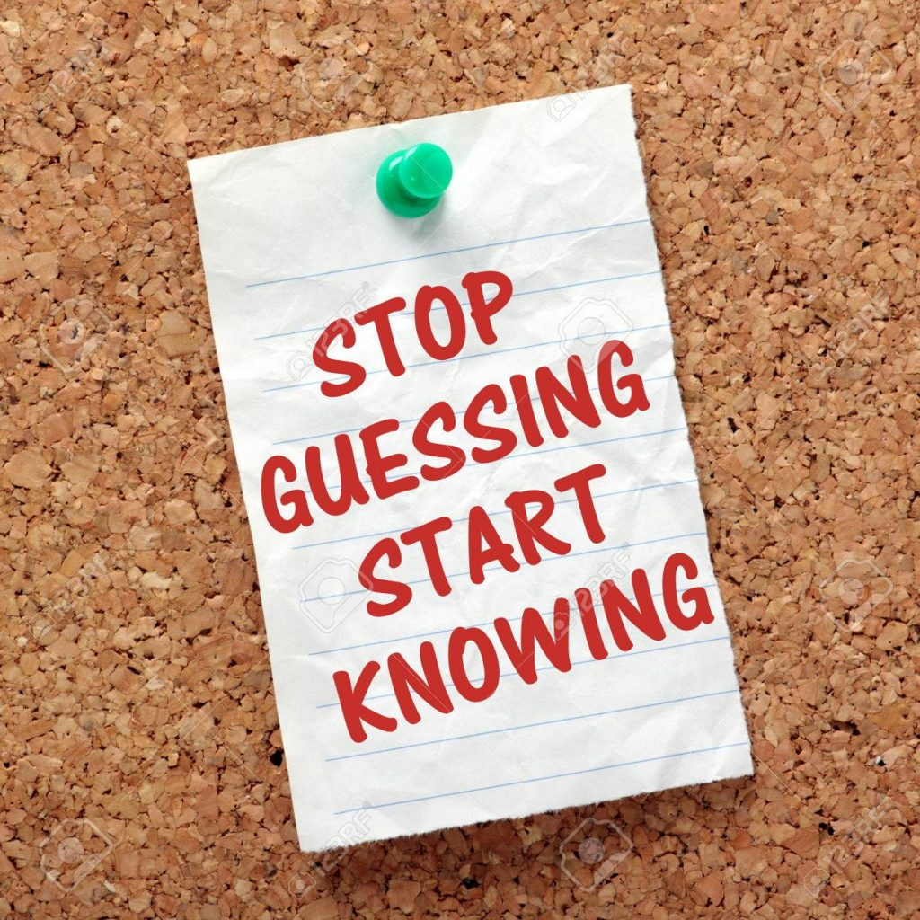 36500864 the phrase stop guessing start knowing on a piece of paper pinned to a cork notice board as a remind 1024x1024 - Building Core & Glutes That Make A Difference!