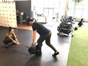 sandbag deadlifts