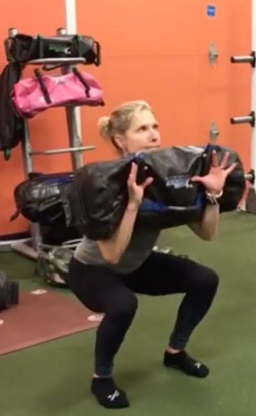 sandbag squat