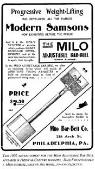 milo ad - The Evolution of the Barbell
